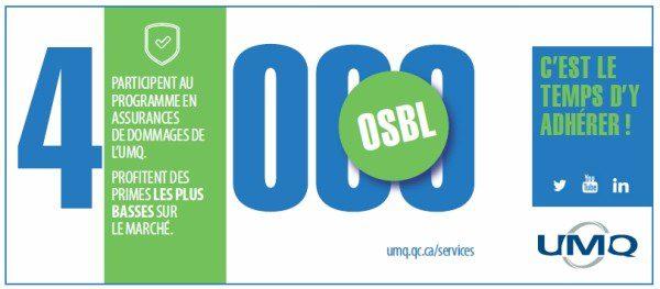Assurance de dommages pour les OSBL