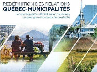Redéfinition des relations Québec-municipalités (document de synthèse)