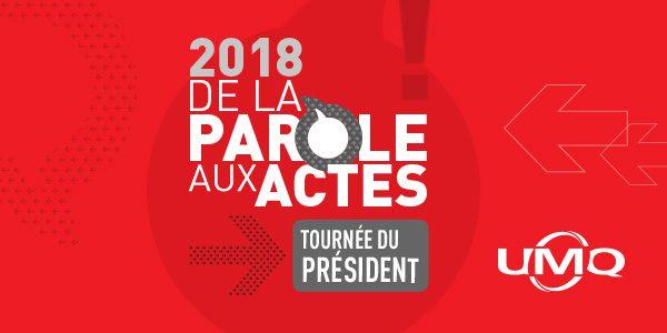 Lancement de la tournée des régions du président de l'UMQ <br/> 2018 : De la parole aux actes!
