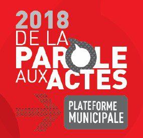 Dépliant – Plateforme municipale 2018