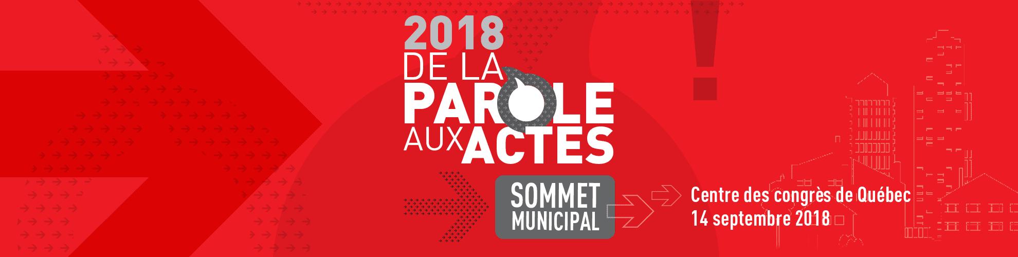 Sommet municipal 2018