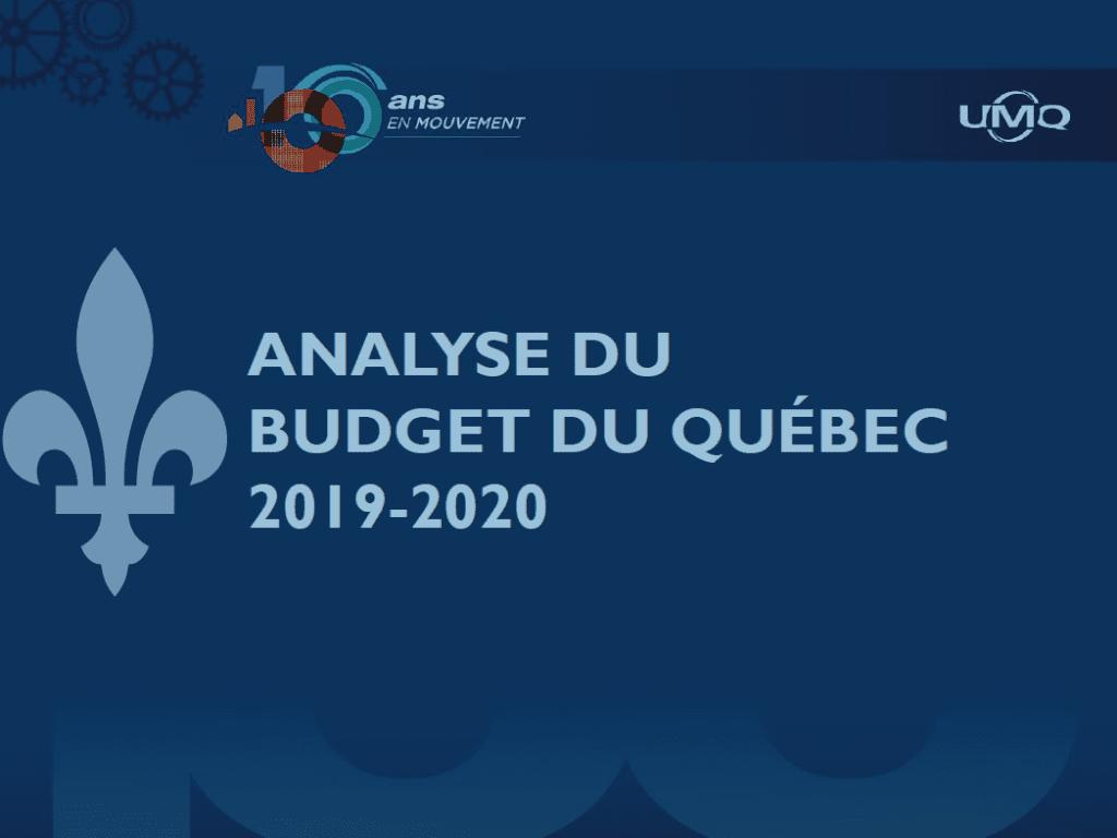 Analyse du budget du Québec 2019-2020