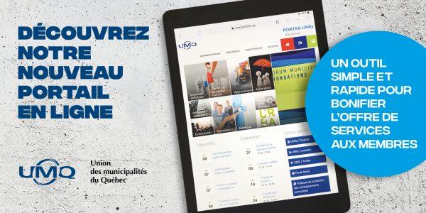 Nouveau portail en ligne de l'UMQ