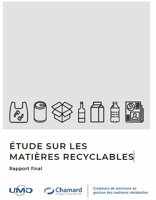 Étude sur les matières recyclables