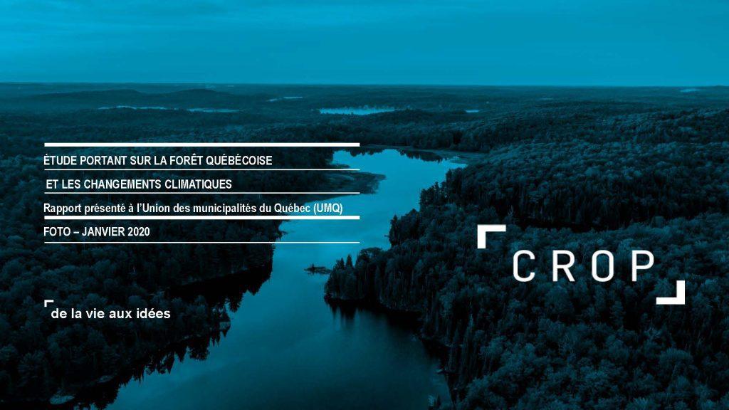 Étude portant sur la forêt québécoise et les changements climatiques