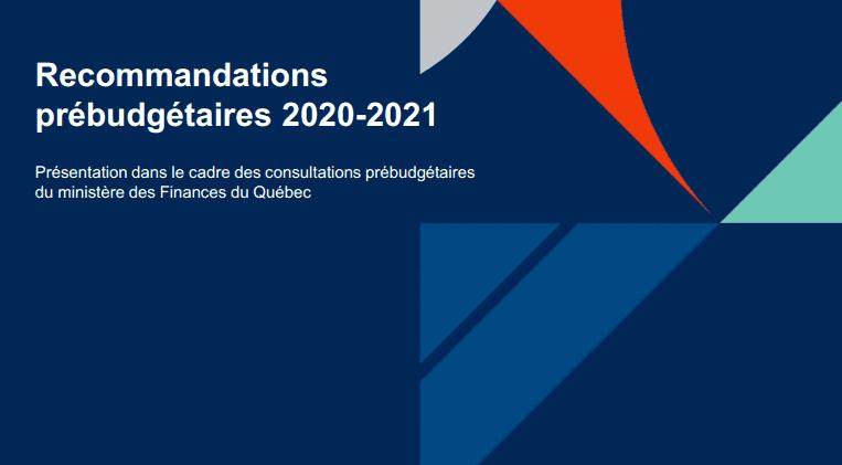 Recommandations prébudgétaires 2020-2021
