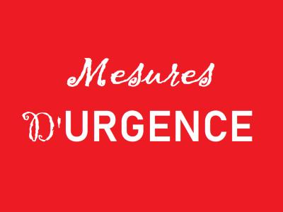 Mesures d'urgence en contexte de pandémie